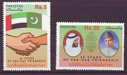 Pakistan - 2001 The 30th Anniversary Of Establishment Of Diplomatic Relations Between Pakistan And UAE 2v. Mnh - Pakistan