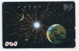 JAPON TELECARTE ESPACE PLANETE ECLIPSE - Astronomy