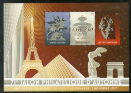 United Nations 2017 Autumn Philatelic Show Efle Tower Pyramid Art M/s MNH # 6278 - Philatelic Exhibitions