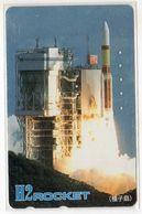 JAPON TELECARTE ESPACE FUSEE H2 ROCKET 1er Lanceur Japonais - Astronomie