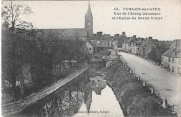 50 - TORIGNI-sur-VIRE - Vue De L'étang Delamare Et L'église Du Grand Vivier - Plusieurs Maisons - CPA - Pas Écrite - - France
