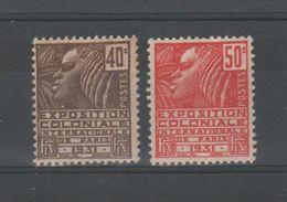 FRANCE - TIMBRES NEUF - EXPOSITION COLONIALE DE PARIS - YVERT 271 ET 272 - Unused Stamps