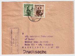 1950, Ermässigter Zeitungs-Versand! R !  , #9161 - 1945-60 Briefe U. Dokumente