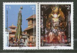 Nepal 2011 Seto Machhindranath Rath Hindu Mythology Religious SeTenant MNH # 1462 - Hinduism