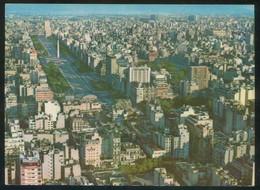 Argentina. Buenos Aires. *Vista Aérea De La Av. 9 De Julio* Circulada 1969. - Argentina