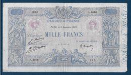 France 1000 Francs Bleu Et Rose - 9-1-1925 - Fayette N°36-41 - TB/TTB - 1871-1952 Circulated During XXth