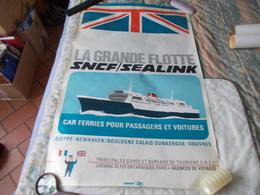 Affiche La Grande Flotte SNCF SEALINK Dieppe Newhaven Boulogne Calais Dunkerque Douvres - Posters