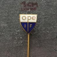 Badge (Pin) ZN006534 - Football (Soccer / Calcio) Skiing Gymnastics Bandy Sweden Ope IF - Football