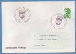 CAD Philatélie Lorient Principal 1985 / N° 2321 Roul Liberté Voy TB Armoirie Blason - Handstempel
