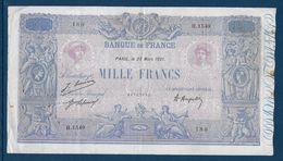 France 1000 Francs Bleu Et Rose - 23-3-1921 - Fayette N°36-37 - TB/TTB - 1871-1952 Circulated During XXth