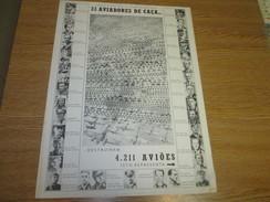 Vintage Poster Affiche WWII Deuxieme Guerre Mondiale German Airfighters Aviateurs Allemandes - Documents Historiques