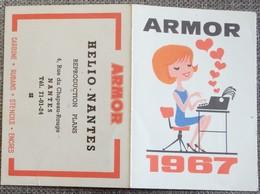 Petit Calendrier De Poche Armor 1967 Nantes - Calendars