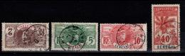 4 Palmiers Avec Obliteration DAKAR - Sénégal (1887-1944)