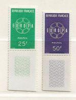 FRANCE ( FR -2454 ) 1959  N° YVERT ET TELLIER  N°  1218/1219    N** - Unused Stamps