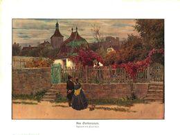 Am Gartenzaun (nach Einem Aquarell Von Paul Hey)   / Druck, Entnommen Aus Zeitschrift/ 1909 - Vieux Papiers