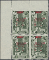 ** Aden - Qu'aiti State In Hadhramaut: 1966, Definitive 10f. On 15c. Green With Red Bilingual Opt. 'SOU - Yemen