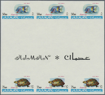 ** Adschman / Ajman: 1965, Definitives 'Indigenous Fauna' 50np. Fish (Pomacanthodes Maculosius) And 75n - Ajman