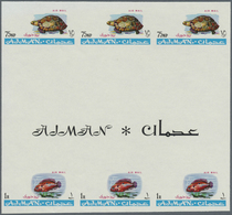 ** Adschman / Ajman: 1965, Definitives 'Indigenous Fauna' 75np. Greek Tortoise (Testudo Graeca) And 1r. - Ajman