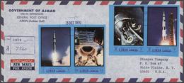 Br Adschman / Ajman: 1970 (6.7./3.10.), Apollo And Gemini Programmes Complete Set Of 20 Imperforate Sta - Ajman