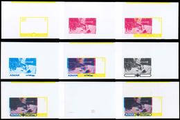 ** Adschman / Ajman: 1971, OLYMPIC GAMES SAPPORO '72, Bobsled, (Chamonix 1924) - 9 Items; Progressive S - Ajman