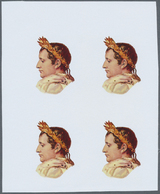 ** Adschman / Ajman: 1971, CELEBRITIES, Napoleon Bonaparte - 8 Items; Progressive Plate Proofs For The - Ajman