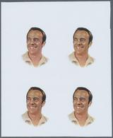 ** Adschman / Ajman: 1971, CELEBRITIES, Alan B. Shepard - 8 Items; Progressive Plate Proofs For The 75D - Ajman