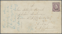 """GA Afghanistan: 1897, 25c Stationery Envelope Addressed In French """"To His Royal Highness, Emir Of Affgh - Afghanistan"""