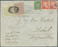 Br Afghanistan: 1926, 20 P., 30 P. (double Perforation In Right Margin) Canc. Oval Intaglio Of Lindikha - Afghanistan