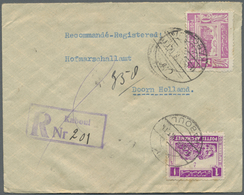 """Br Afghanistan: 1938, Two Registered Covers From """"KABOUL"""" With Large Units Of 2 Pl. Black On Reverse To - Afghanistan"""