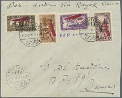 """Alawiten-Gebiet: 1926, Flight Cover """"TARTOUS - DAMASCUS"""", Dated 24/5/1926, Franked With Air Mail Set - Alaouites (1923-1930)"""