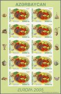 (*) Aserbaidschan (Azerbaydjan): 2005, Europa-Gastronomie Kompl. Satz Von Zwei Werten Mit 1.000 M. 'Pila - Azerbaïjan