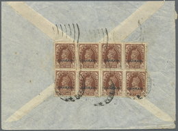 Br Bahrain: 1938. Air Mail Envelope (small Part Of Front Missing) Addressed To India Bearing SG 21, ½a - Bahrain (1965-...)