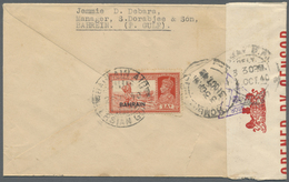 Br Bahrain: 1941-43, Three Censored Airmail Covers To India With Censore Strips And Triangle Handstamps - Bahrain (1965-...)