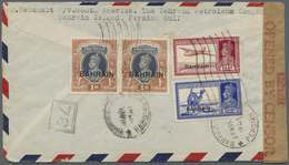 Br Bahrain: 1941. Air Mail Envelope Addressed To The United States Bearing Bahrain SG 27, 3a6p Blue, SG - Bahrain (1965-...)