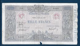 France 1000 Francs Bleu Et Rose - 28-6-1917 - Fayette N°36-31 - B/TB - 1871-1952 Circulated During XXth