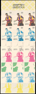 ** Bhutan: 1964, OLYMPIC GAMES TOKYO, Stone Throwing - 7 Items; Progressive Plate Proofs In 6-color-pri - Bhutan