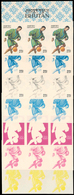 ** Bhutan: 1964, OLYMPIC GAMES TOKYO, Soccer - 7 Items; Progressive Plate Proofs In 6-color-print For T - Bhutan