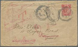 Br Birma / Burma / Myanmar: 1913. Envelope Addressed To 'Logan Road, Ygang, Burma' Bearing Straits Sett - Myanmar (Burma 1948-...)