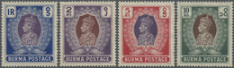 (*)/* Birma / Burma / Myanmar: 1938, NASIK ESSAYS (Design 'G') For 1938-40 1r, 2r, 5r And 10r, Colors As A - Myanmar (Burma 1948-...)