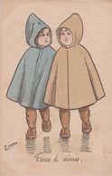 """Illust. ZANE . 2 Gamins Aux Imperméables """" Frères D'armes"""" - Other Illustrators"""