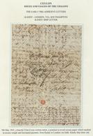 Br Ceylon / Sri Lanka: 1845, MY 9, A Heavily Criss-cross Written Entire, A Practice To Avoid Excess Pap - Sri Lanka (Ceylon) (1948-...)