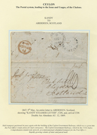 "Br Ceylon / Sri Lanka: 1849, MAY 9th, Entire Letter To ABERDEEN, Scottland Showing ""KANDY STEAMER LETTE - Sri Lanka (Ceylon) (1948-...)"