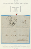 "Br Ceylon / Sri Lanka: 1849, JUNE 22, Entire Letter To AKYAB, Burma Via Calcutta, Showing ""GALLE SHIP L - Sri Lanka (Ceylon) (1948-...)"