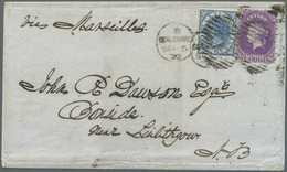 Br Ceylon / Sri Lanka: 1870, Attractive Mixed Franking With 1 Shilling Lilac And 1 D Blue From COLOMBO - Sri Lanka (Ceylon) (1948-...)