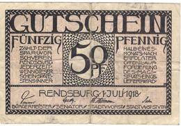 Deutschland Notgeld 50 Pfennig Tieste6025.05.06 RENDSBURG /48M/ - [11] Local Banknote Issues