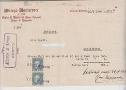 Sesto In Pusteria Bolzano Albergo Montecroce 1940 Con Marca Da Bollo Regno - Italia