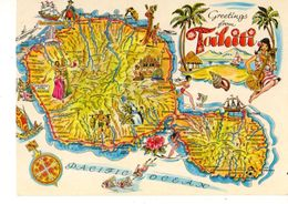 POLYNESIE---greetings From TAHITI-----voir 2 Scans - Polynésie Française