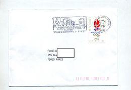 Lettre Flamme Saint Jean Maurienne Carrefour Alpin Sur Flamme Olympique - Marcophilie (Lettres)