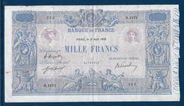 France 1000 Francs Bleu Et Rose - 8-8-1919 - Fayette N°36-34 - TB/TTB - 1871-1952 Circulated During XXth