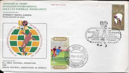 JAWAHARLAL NEHRU INVITATION INTERNATIONAL GOLD CUP FOOTBALL TOURNAMENT INAUGURATED BY SHRIMATI INDIRA GANDHI PRIME - Mongolia